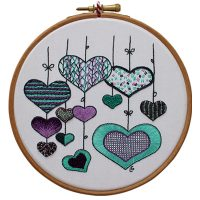 Hearts - Purple and Green