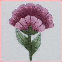 Art Nouveau Flower - Pink Camelia