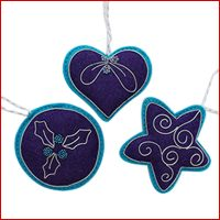 Christmas Decorations in Blue and Purple